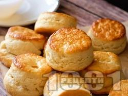 Бързи и лесни пухкави курабии (scones) - снимка на рецептата